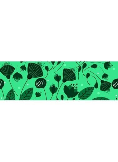 Artikel Çizgisel Yapraklar Temalı Runner Masa Örtüsü 43,5x141,5cm Renkli